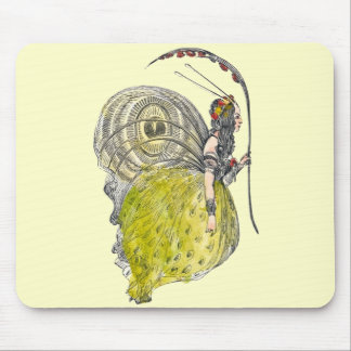 Vintage Cute Fantasy Butterfly Fairy with Wings Mouse Pad
