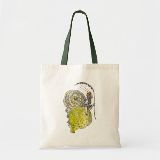 Vintage Cute Fantasy Butterfly Fairy with Wings Tote Bag