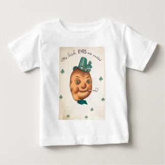 Vintage Cute Irish Potato St Patrick's Day Card Baby T-Shirt