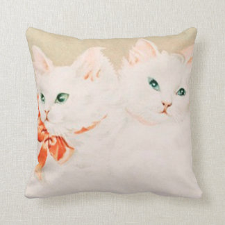 Vintage cute kitty cat kittens antique painting pillows