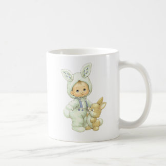 Vintage Cute Little Boy Dressed As Easter Bunny Coffee Mug