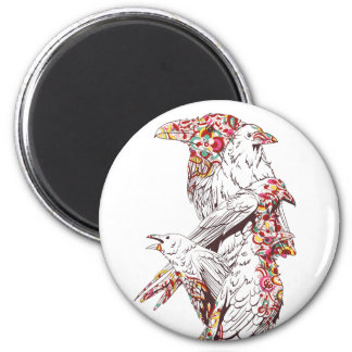 vintage cute parrots and animals magnet
