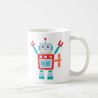 Vintage Cute Robot Toy For Kids Coffee Mug