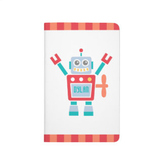 Vintage Cute Robot Toy For Kids Journal