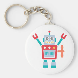 Vintage Cute Robot Toy For Kids Keychain
