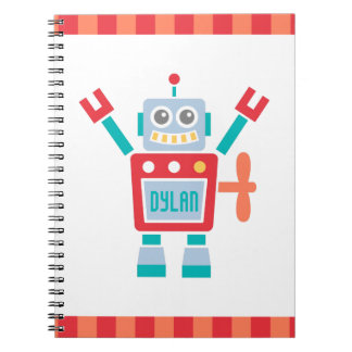 Vintage Cute Robot Toy For Kids Notebook
