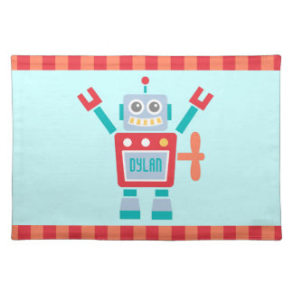 Vintage Cute Robot Toy For Kids Placemat