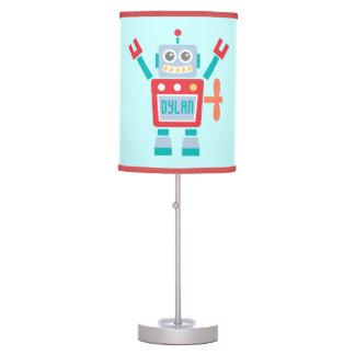 Vintage Cute Robot Toy For Kids Room Desk Lamp