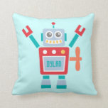 Vintage Cute Robot Toy For Kids Room Pillow
