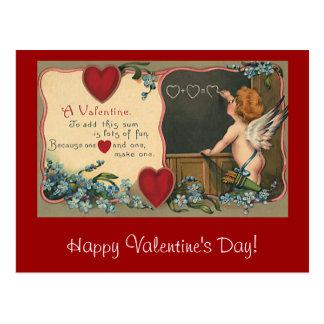 Vintage Cute Valentine's Day, Cherub Teacher Postcard