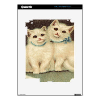Vintage, Cute White Kittens Skin For iPad 2