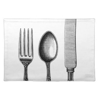 Vintage Cutlery Illustration Placemat
