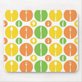 Vintage Cutlery Pattern Mouse Pad