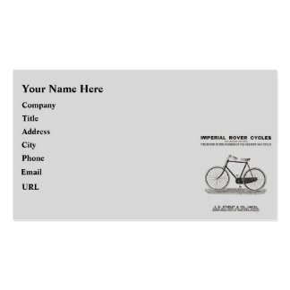 VINTAGE CYCLE ADVERT BUSINESS CARD