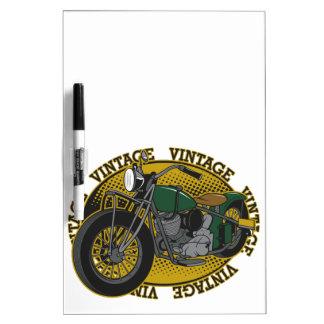 Vintage Cycle Rider Dry-Erase Board