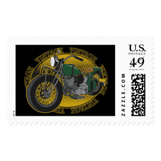 Vintage Cycle Rider Postage Stamps