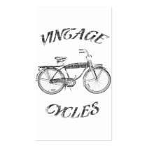 vintage, cycles, funny, retro, advertising, sports, street, urban, cute, cool, old school, business card, Business Card with custom graphic design