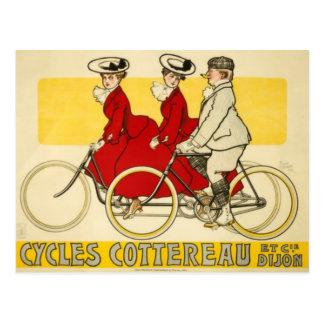 Vintage Cycles Cottereau by René Vincent Postcard