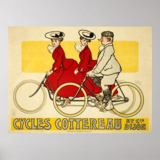 Vintage Cycles Cottereau by René Vincent Poster