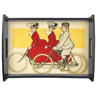 Vintage Cycles Cottereau by René Vincent Serving Tray