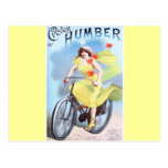 Vintage Cycles Humber Albert Houbrac Woman Cycling Post Cards