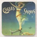 Vintage Cycles Sirius Bicycle Poster Drink Coasters