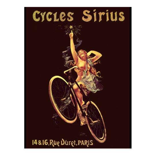 Vintage Cycles Sirius Bicycle Poster Postcard