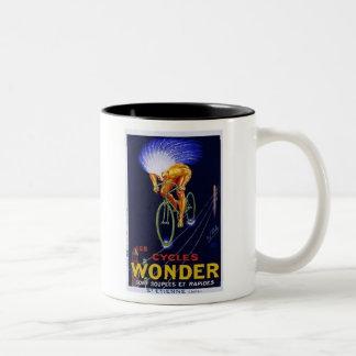 Vintage Cycles Wonder Ad Two-Tone Coffee Mug