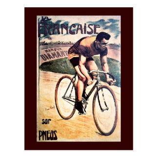 Vintage Cycling graphic bicycle Postcard