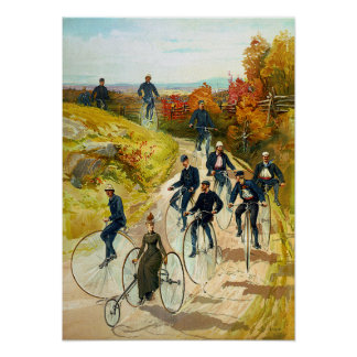 Vintage Cycling Poster Print
