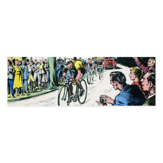 Vintage Cycling Print Double-Sided Mini Business Cards (Pack Of 20)