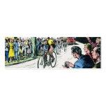 Vintage Cycling Print Mini Business Card
