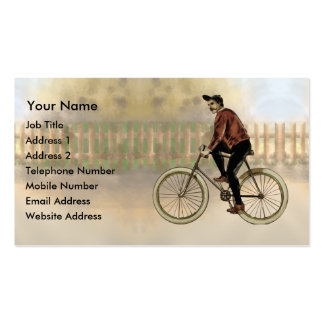 Vintage Cyclist in the Country Double-Sided Standard Business Cards (Pack Of 100)