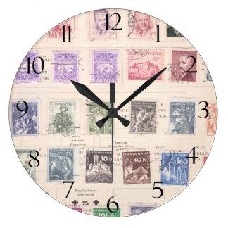 Vintage Czechoslovakian Postage Large Clock
