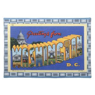 Vintage D.C. Postcard II Cloth Placemat