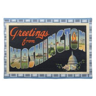 Vintage D.C. Postcard III Cloth Placemat