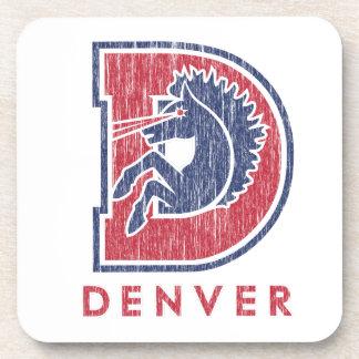 Vintage D Denver Logo Drink Coaster