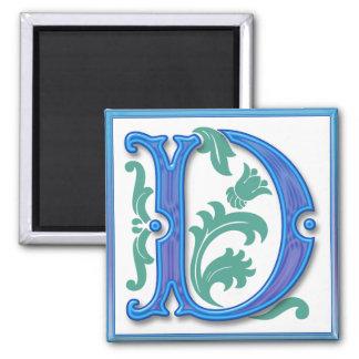 Vintage D inicial - monograma D<br> Iman