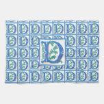 Vintage D inicial - monograma D<br> Toalla De Mano