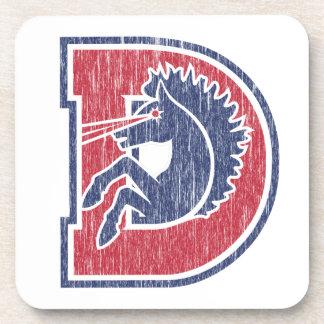 Vintage D Logo Beverage Coaster