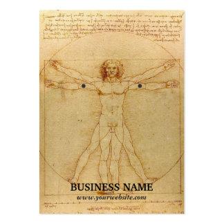 Vintage Da Vinci Drawing Earring Holder Large Business Card