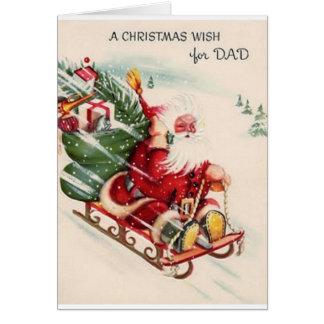Vintage Dad Christmas Greeting Card