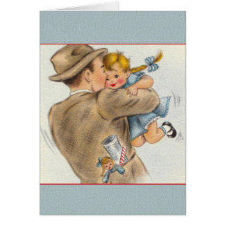 Vintage Daddy's Little Girl Father's Day Card
