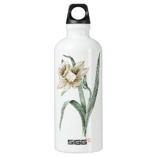 Vintage Daffodil Aluminum Water Bottle