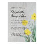 Vintage Daffodil Bridal Shower Invitations Custom Invitations