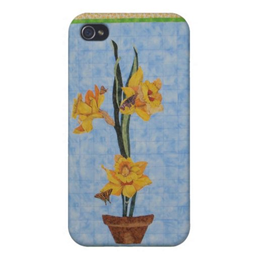 Vintage daffodil IPhone cover case Cases For iPhone 4