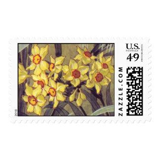 Vintage Daffodil Postage
