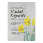 Vintage Daffodils Bridal Shower Invitations Announcement