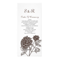 Vintage Dahlia Wedding Invitations