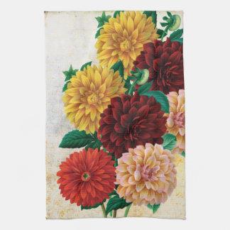 Vintage Dahlias Towel
